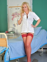 Naughty nurse with giant..